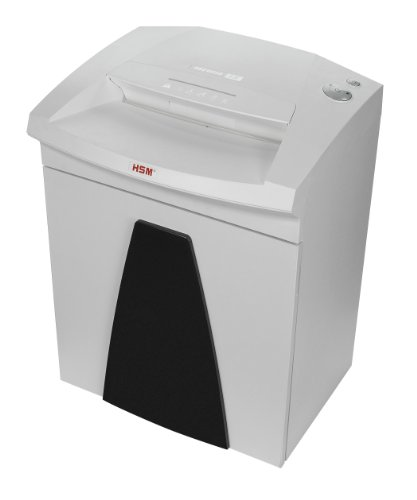 "HSM SECURIO B26 1/4"" Strip-Cut paper shredder; shreds up to 30 sheets; 14.5-gallon capacity"