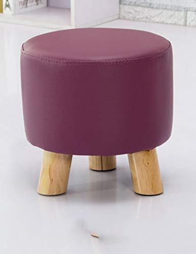 Czhuz Home/Furniture Decoration Desk Table Fashion Small Round Stool Creative Coffee Table Stool Children Stool Simple Living Room Home Nail Sitting Pier Sofa Stool Durable,#2