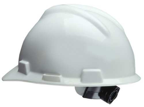 Safety Works 818064 Ratchet Hard Hat, White (White Hardhat)