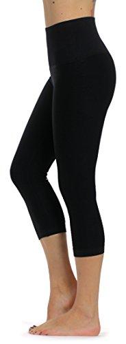 Prolific Health High Compression Women Pants Yoga Fitness Leggings (Large/X-Large, Black Capri)