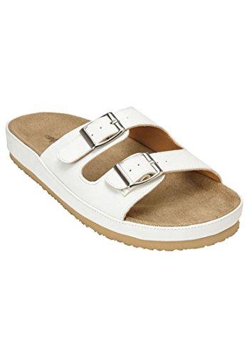 ComfortViewレディースワイドマキシFootbed Sandal