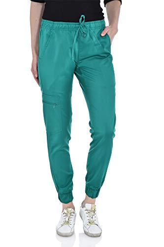 - Marilyn Monroe Stretch Jogger Scrubs Pants with Zipper Side Pocket, Available in 13 Colors from XS-2X Teal
