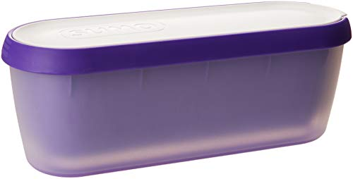 (SUMO Ice Cream Containers: Insulated Ice Cream Tub for Homemade Ice-Cream, Gelato or Sorbet - Dishwasher Safe - 1.5 Quart Capacity [Purple, 1-Pack])