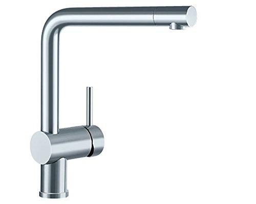 Blanco LINUS Küchenarmatur, metallische Oberfläche, Edelstahl finish, Hochdruck, 1 Stück, 514021