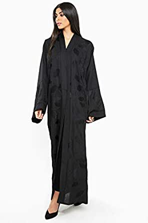 Nukhbaa Black Casual Abaya For Women