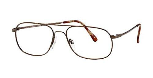 Flexon Autoflex 39 Eyeglasses 210 Antique Brown Demo 55 1...