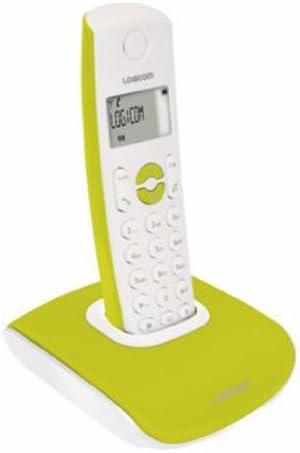 Logicom Nova 350 Pop Solo - Teléfono fijo inalámbrico DECT con manos libres, color verde [Importado de Francia]: Amazon.es: Electrónica