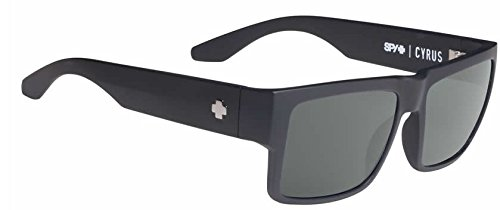 Spy Cyrus Soft Matte Black Happy Gray Green Polar - Sunglasses Spy Mens Sale