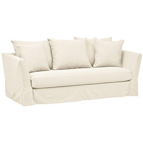 (Stone & Beam Bartow Living Room Loveseat Sofa with Slipcover, 86