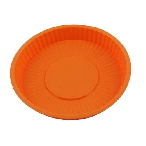 1PCS Professional ROUND Cake Pie Pan 8Inch X 0.8Inch Non-Stick Mould Silicone Heavy Duty Chocolate Candy Cookie Cupcake Bareware Kitchen Mold Tray Pans Decorative, Never Used