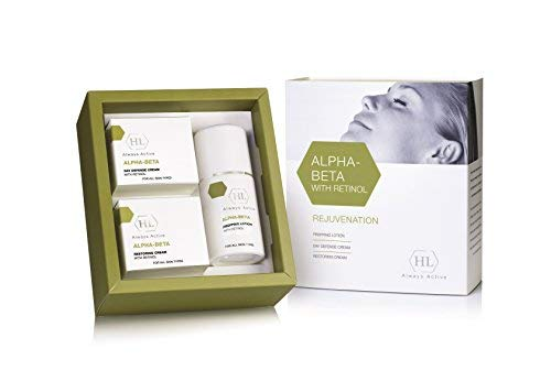 HL Alpha Beta with Retinol Home Kit - Prepping Lotion, Day Cream, Restoring Night Cream for all skin types -