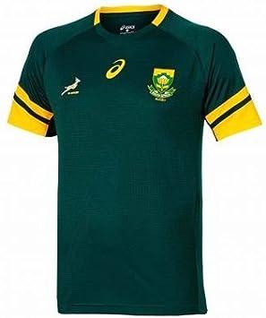 Producto oficial de Sudáfrica Springboks Rugby camiseta de Asics, Unisex: Amazon.es: Deportes y aire libre