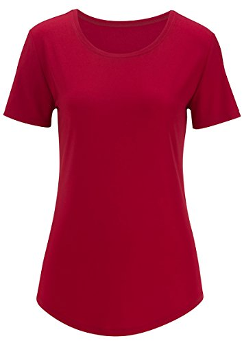 Edwards Women's S/s Jewel Neck Shirt, BRICK, 3XL (Cheerleader Red Jacket)