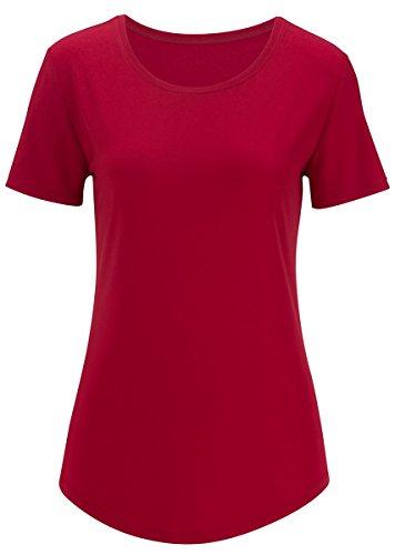 Edwards Women's S/s Jewel Neck Shirt, BRICK, 3XL (Red Cheerleader Jacket)
