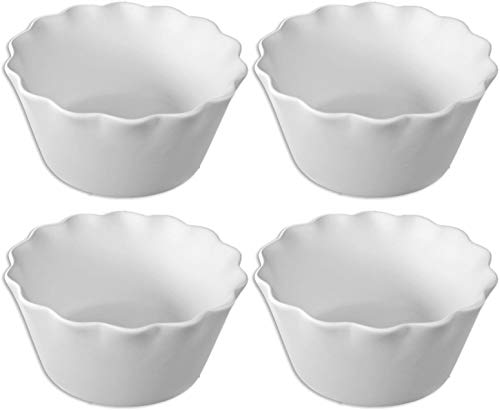 Ruffled Bowl - Set of 4 - Paint Your Own Ceramic ()