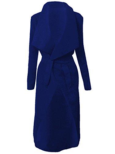 Bleu cascade CELEBRITY longue Manteau Cape ceinture Kim Cardigan Marine femme Italien Jewellery Veste KARDASHIAN 70xdHHWqS