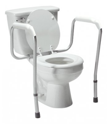 Lumex 6465A-1 Versaframe Toilet Safety Rail with Adjustable Height, Brown Box by Graham-Field