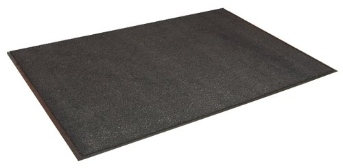 Olefin Mat - Durable Spectra-Olefin Indoor Vinyl Backed Carpet Entrance Mat, 3' x 6', Charcoal