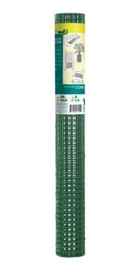 Origin Point 272405 1/2-Inch Mesh Green Vinyl Coated Hardware Cloth, 24-Inch x 5-Foot