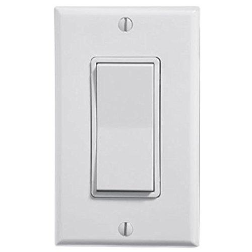 Decora Digital Switch w/ RF Wireless Control 15 Amp Max. Multi-Location - Leviton WSS0S-S9W