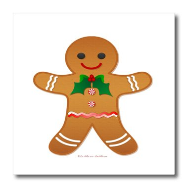 lee hiller designs holidays christmas happy holidays christmas gingerbread man cookie boy 10x10 - Christmas Gingerbread Man