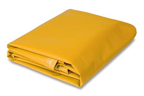 8 feet x 10 feet Heavy Duty Vinyl Tarp (Yellow) ()