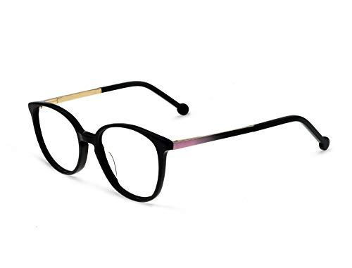 OCCI CHIARI Oval Fashion Plastic Eyewear Frame With Clear Lenses For Women ()