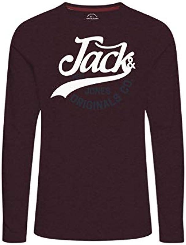 JACK & JONES Sweater JORGRIN Tee LS Crew Neck 12141514 Port Royale SH18-JJS1: Odzież