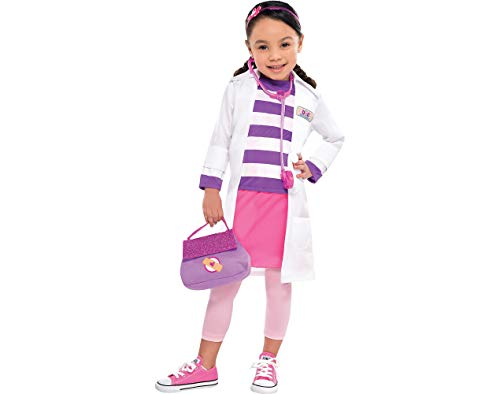Doc McStuffins Costume for Girls, Small, with Included Accessories, by Amscan