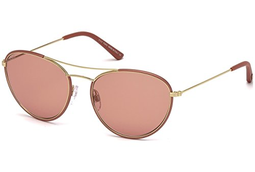 Tod's TO0156 - 74S Gold/Coral Sunglasses