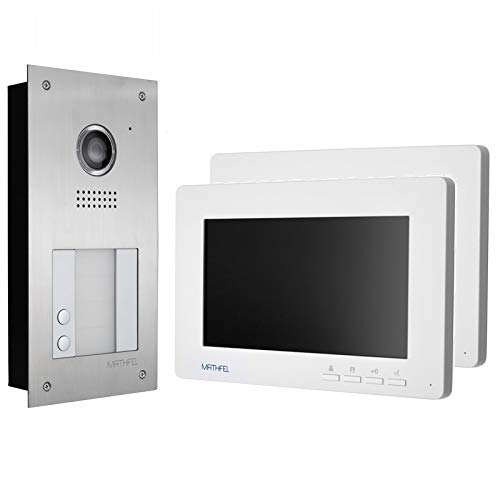 Video türsprechanlage con 7 pulgadas monitor en blanco