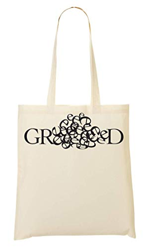 Bag Typography Tote Di Greed Sacchetto wxYTzfz8