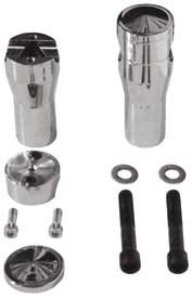 Chrome plated 6'' tall risers (imported)-by-v-factor