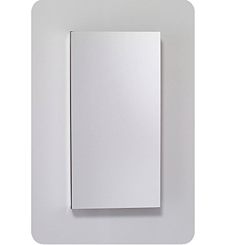 (Robern MC1230D4FPLE2 M-Series Mirror Cabinet with Plain Edge Door, Silver)