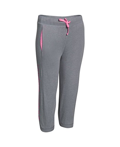 Under Armour Girls' UA Half-Time Capri LG (14-16 Big Kids) x One Size Steel by Under Armour (Image #2)