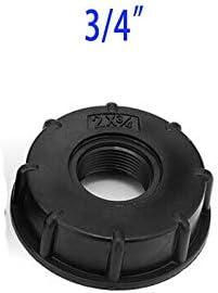 SENRISE conector IBC, adaptador de tanque de agua de 60 mm de rosca gruesa para 1000 litros de barriles, barriles IBC, tanque, etc, negro