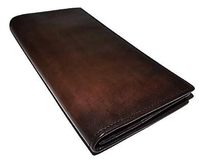 Spernanzoni Men's Luxe Italian Leather Breast Pocket Secretary Wallet Espresso
