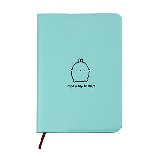 Amison funktional Molang Tagebuch Wochenplaner Agenda Notizblock Notizbuch Niedlich Kaninchen kawaii (Blau)