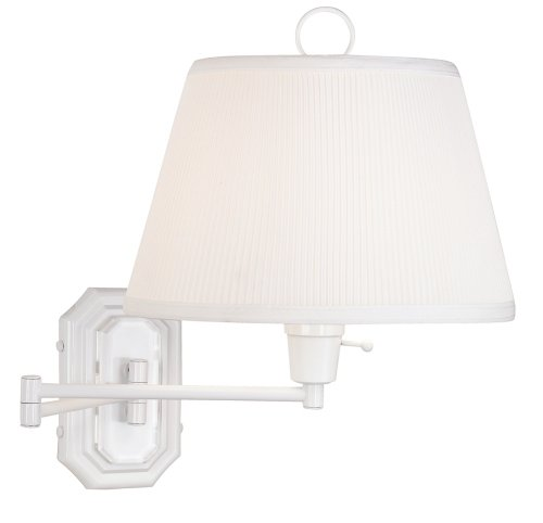 White Swing Arm Plug-in Wall Lamp by Barnes and Ivy (Arm White Swing Lamp Wall)
