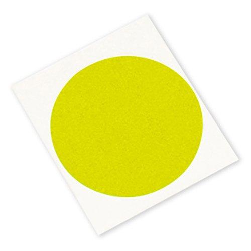 3M 301+ CIRCLE-1.250\'-500 Performance Masking Tape 3M 301+, 1.250\' Diameter Circles, Yellow (Pack of 500)
