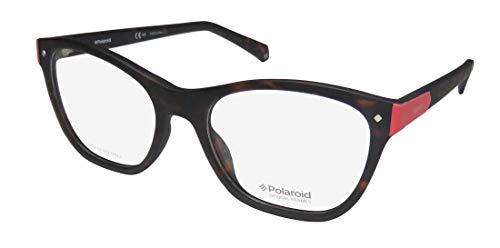 Polaroid D329 Womens/Ladies Cat Eye Full-rim Affordable Authentic Gorgeous Eyeglasses/Spectacles (52-18-145, Matte ()
