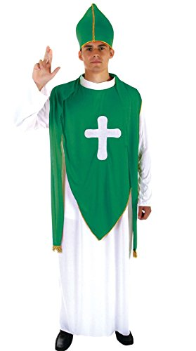 (Rimi Hanger Adult ST Patricks Priest Man Costume Irish Fancy Dress ST Patricks Day Outfit One)