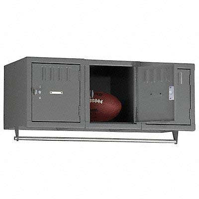 Assembled Locker, Wall Mount, W 36, Gray