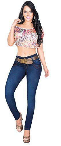 Pantalón Push up Mujer Colombiano Cola 10 Vaquero Talla De Cheviotto Levanta Jeans xAfgax