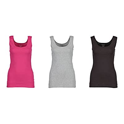 Discount 3-Pack Gildan Women's Tank Tops, 100% Cotton Ribbed Ladies Layering Gym Tank Top Shirts for sale