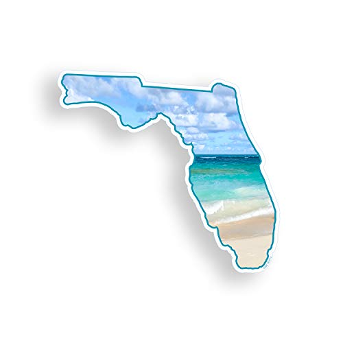 Florida Beach Sticker FL Ocean State Vinyl Car Truck Laptop Cup Bumper Window Decal