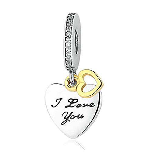 SUNWIDE Forever I Love You Fit Pandora Charms Bracelets -