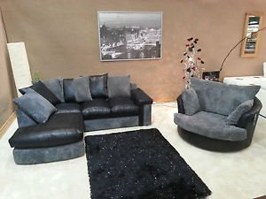 Online Sofa Wholesale Carnival Cord Oxford Grey And Black