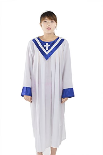 Cassock Priest Costume (Unisex Priest Costune Pastor Christian Church Choir Robes Navy Blue Collar 150)