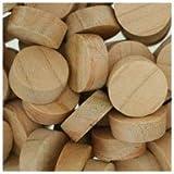 WIDGETCO 5/8'' Cherry Wood Plugs, Face Grain
